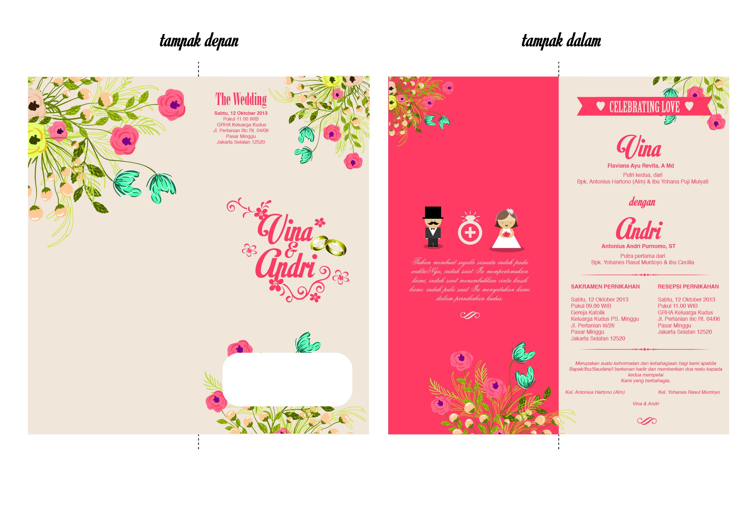 Undangan Pernikahan Vina & Andri